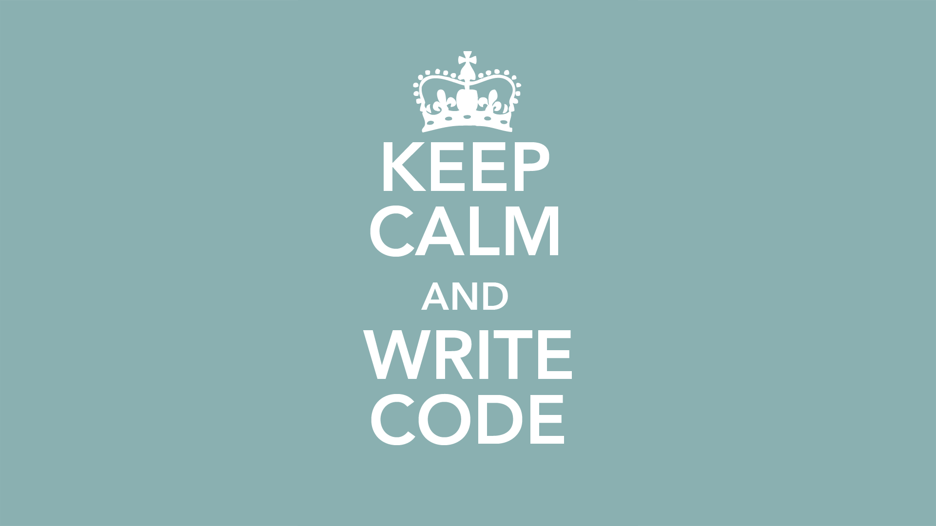 Keep Calm And Write On Wallpaper